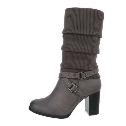Damen High-Heel Stiefeletten - grey