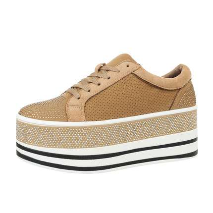Damen Low-Sneakers - camel