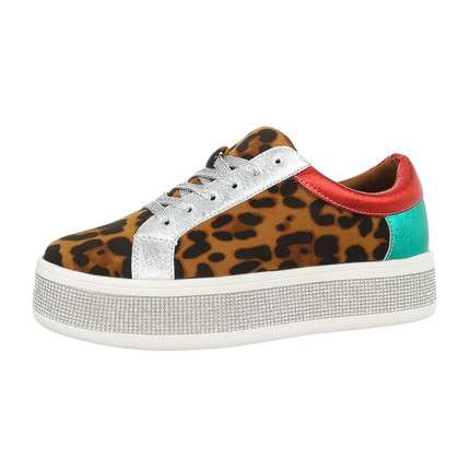 Damen Low-Sneakers - leopard