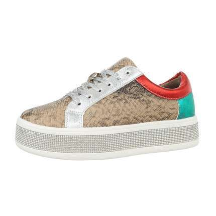 Damen Low-Sneakers - serpentine