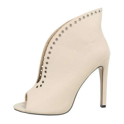 Damen Peeptoes - beige