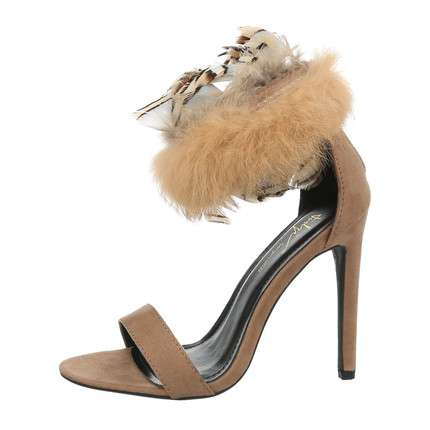 Damen High-Heel Pumps - nude