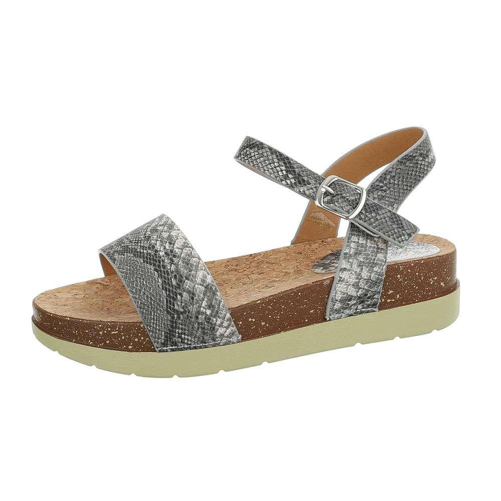Sandale plate pentru femei - gri - image 1