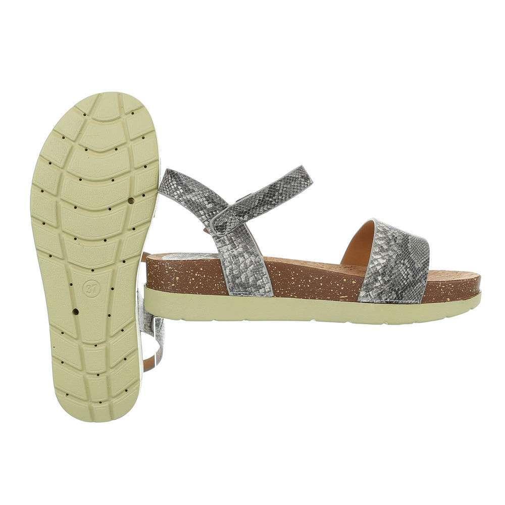 Sandale plate pentru femei - gri - image 2