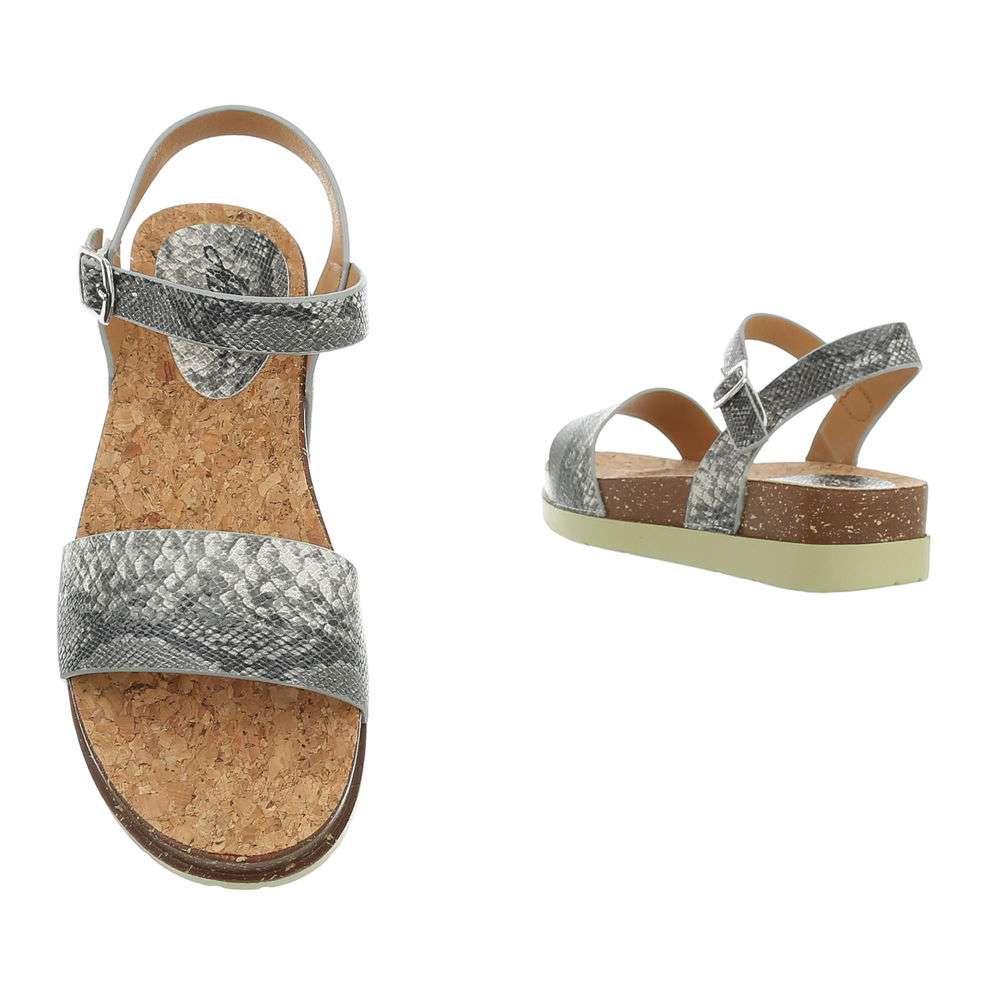 Sandale plate pentru femei - gri - image 3