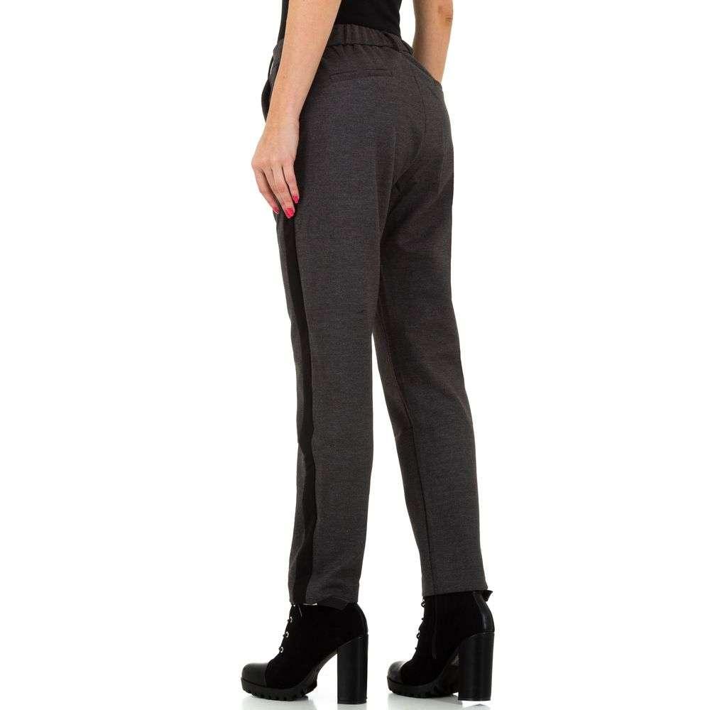 Pantaloni pentru femei de Laulia - gri inchis - image 3