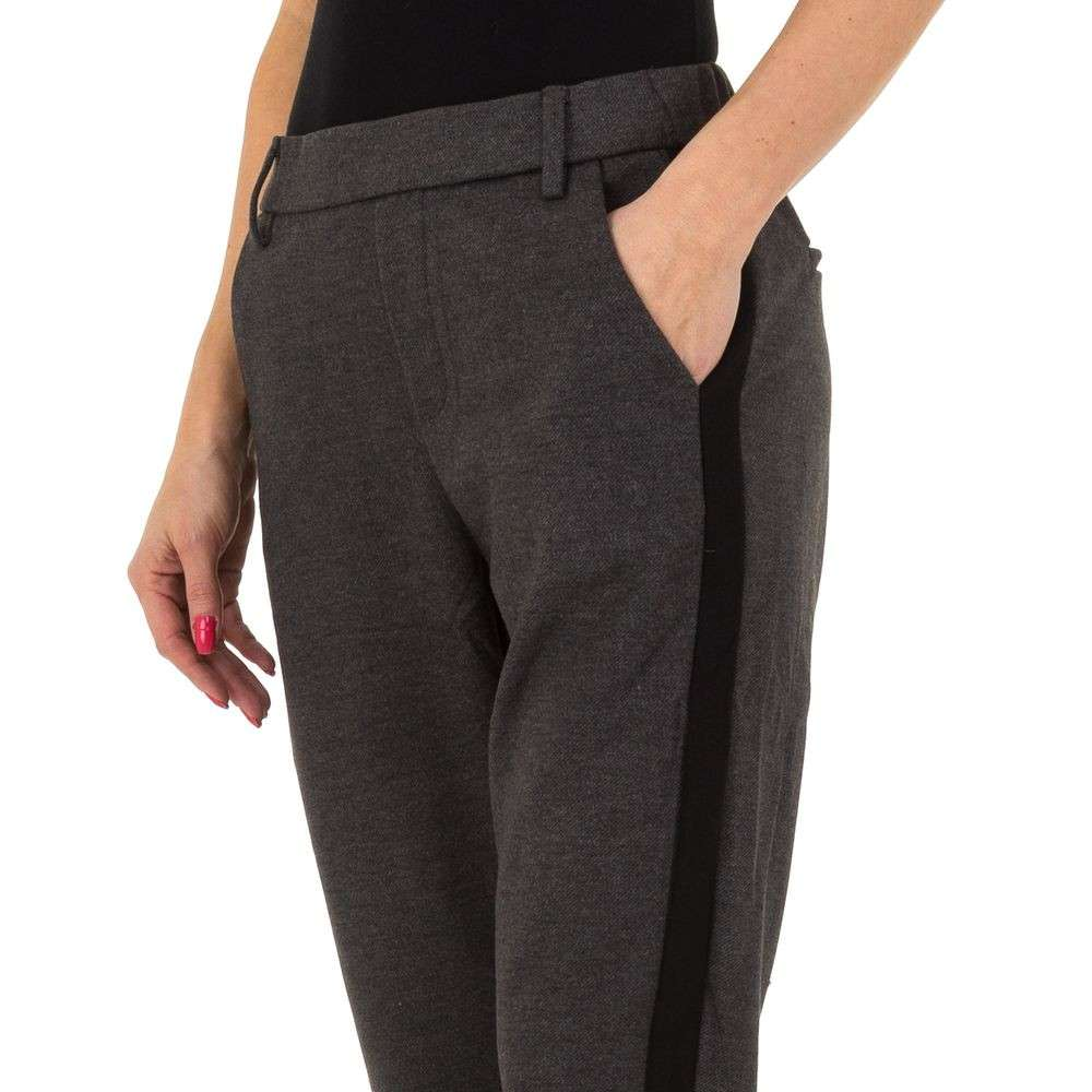 Pantaloni pentru femei de Laulia - gri inchis - image 4