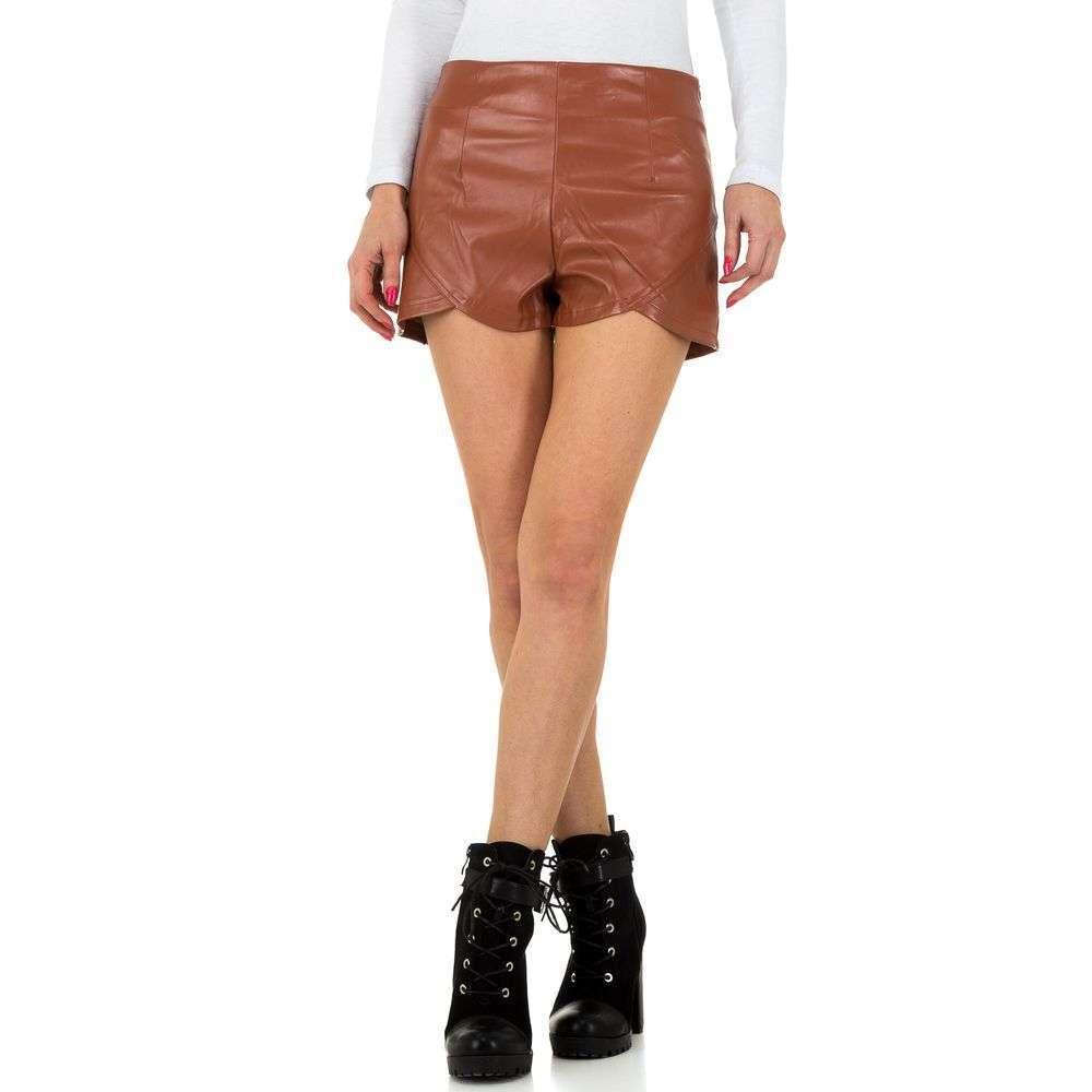 Pantaloni scurți de femei JCL - maro