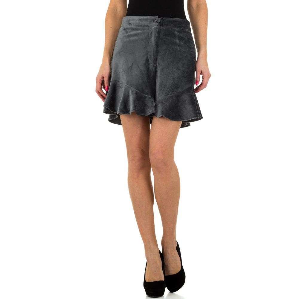 Pantaloni scurți din denimi de femei JCL - gri