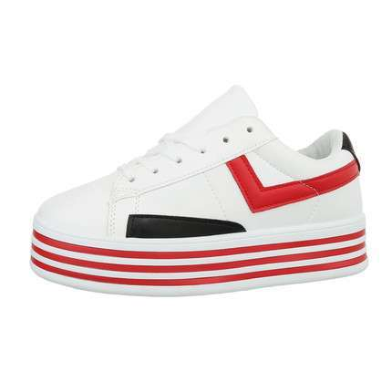 Damen Low-Sneakers - whitered