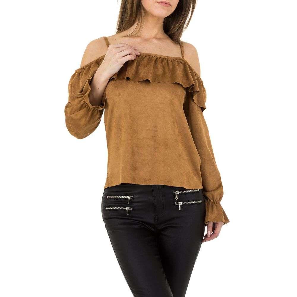 Bluză pentru femei de JCL - cămilă
