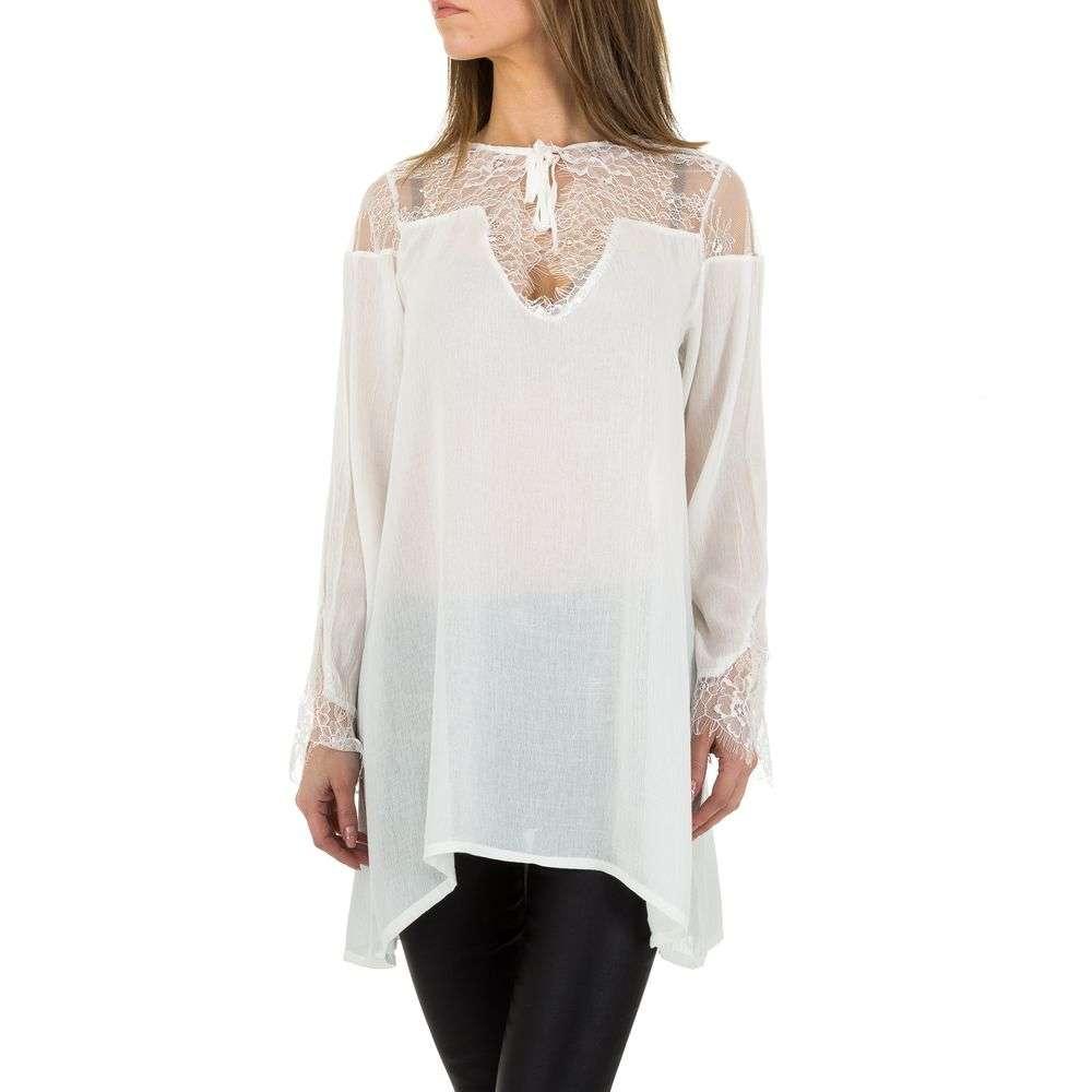 Bluză lungă pentru femei de JCL - albă