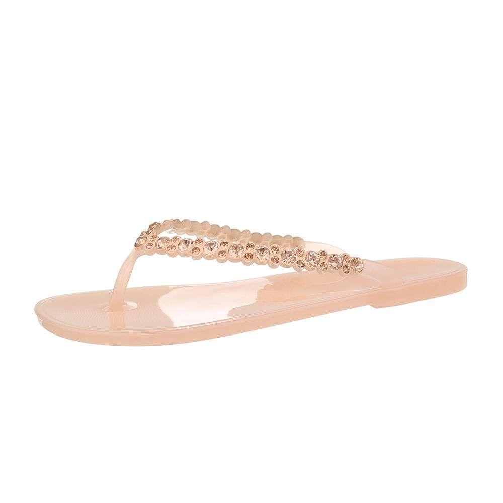 Sandale plate pentru femei - roz