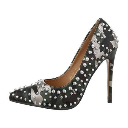 Damen High-Heel Pumps - camouflage