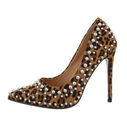 Damen High-Heel Pumps - leopardprint