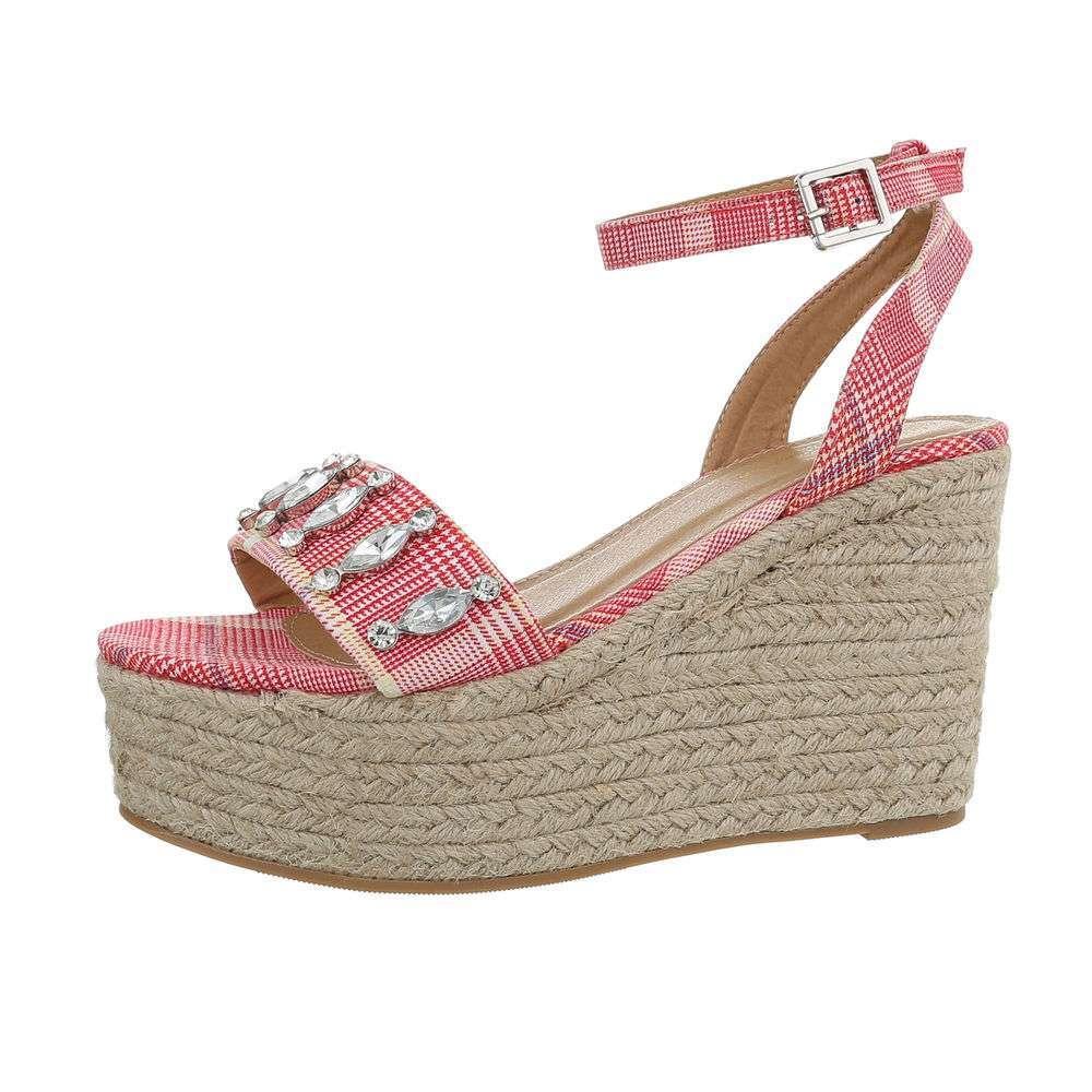 Sandale cu platformă pentru femei - fuchsia - image 1