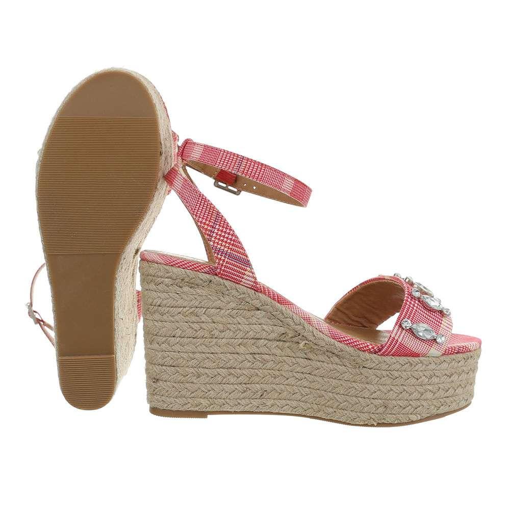 Sandale cu platformă pentru femei - fuchsia - image 2