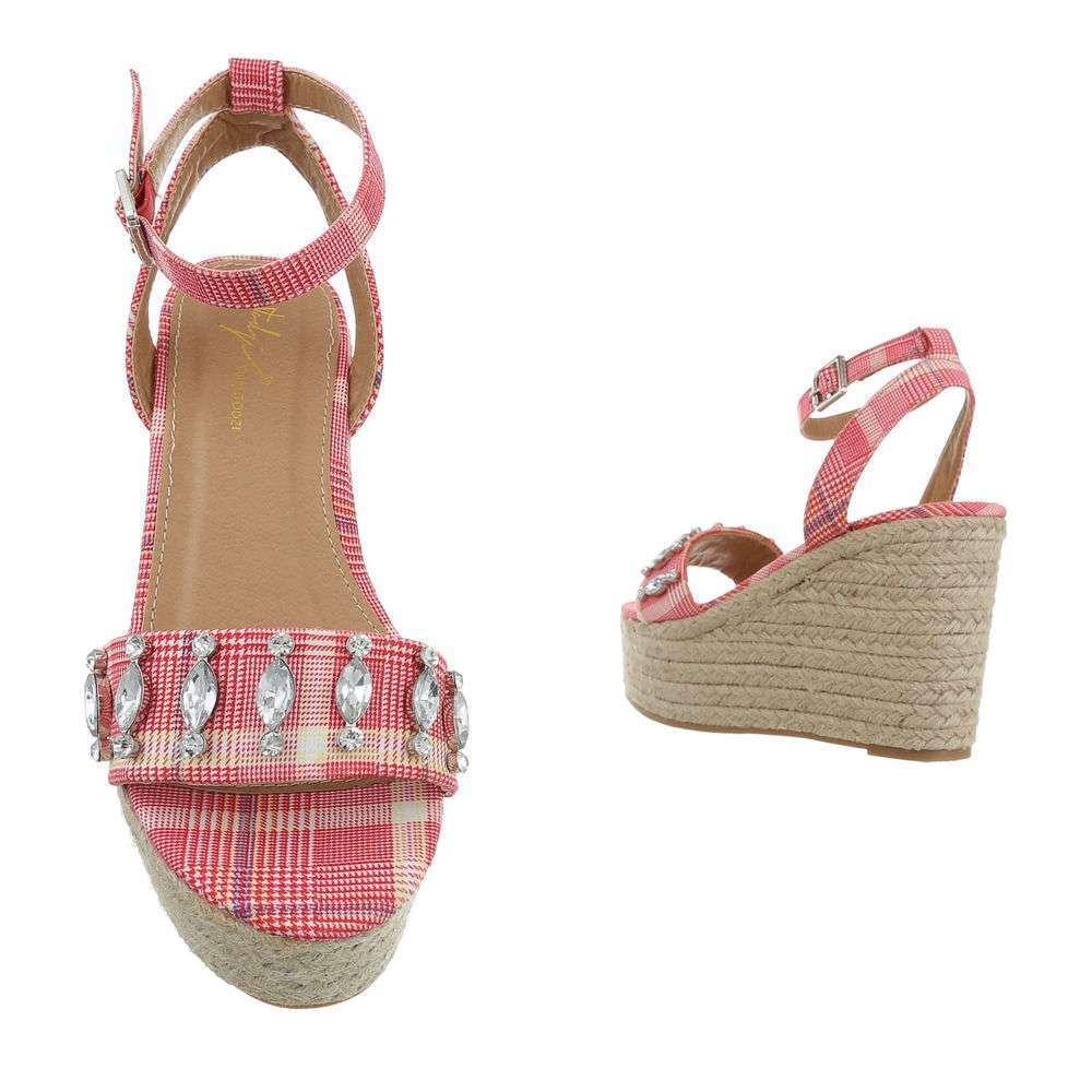 Sandale cu platformă pentru femei - fuchsia - image 3
