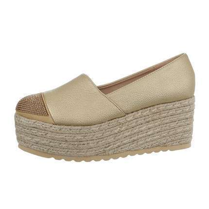 Damen Slipper - gold