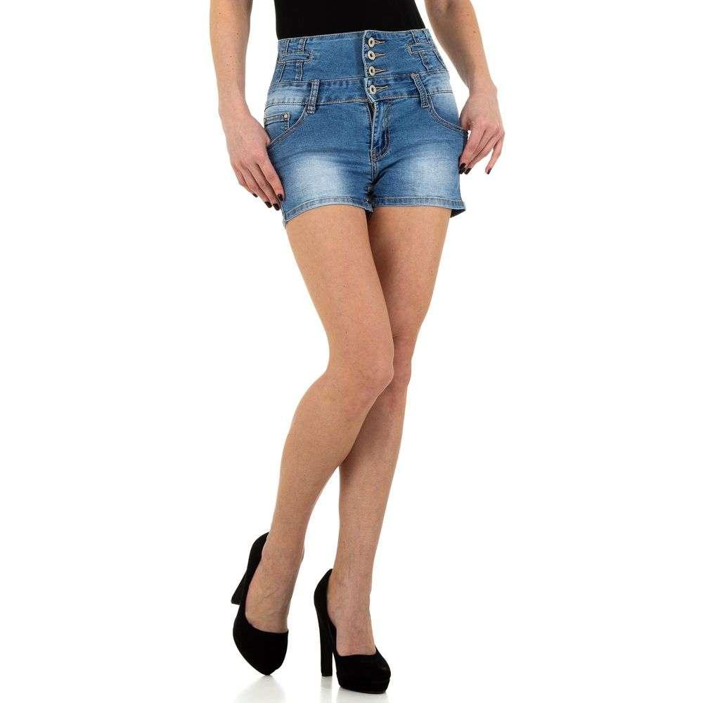 Pantaloni scurți din denimi de femei BySasha - albastru