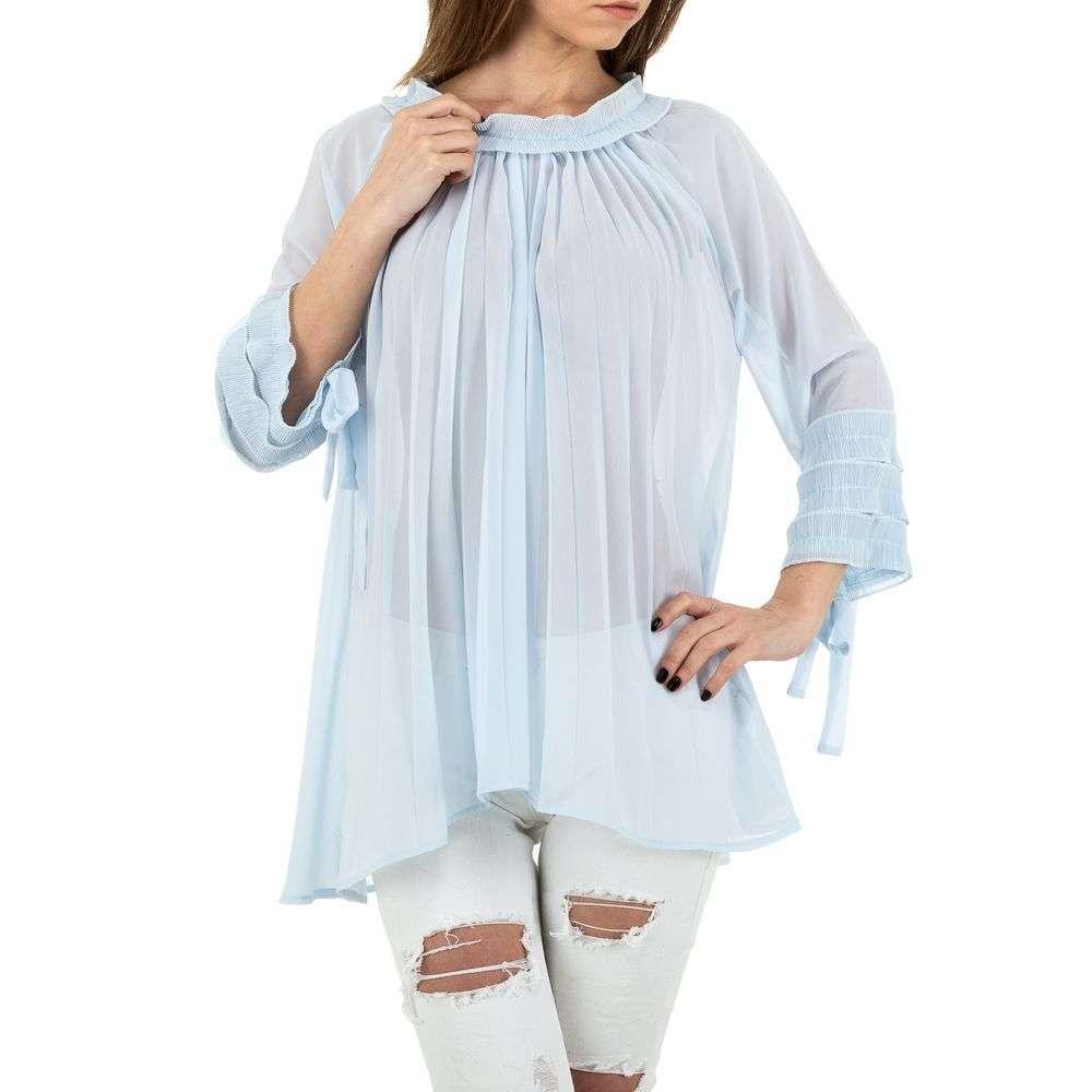 Bluză lungă de damă marca MC Lorene - albastră