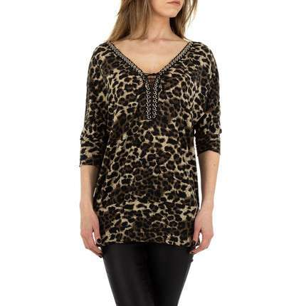 Damen Shirt von Enzoria Gr. One Size - coffee