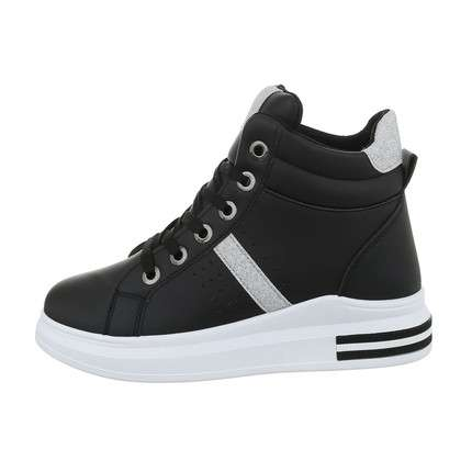 Damen High-Sneakers - blacksilver
