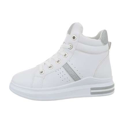 Damen High-Sneakers - whitesilver