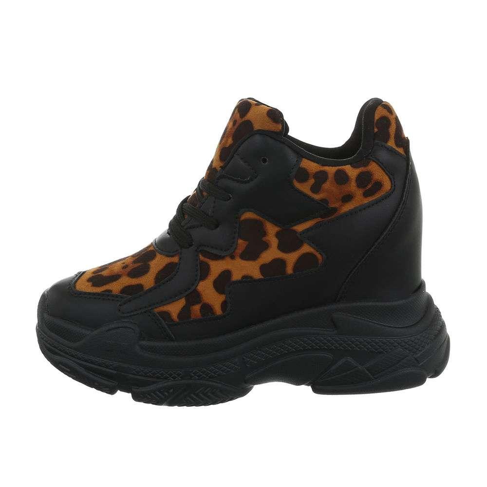 Pantofi sport înalți pentru femei - cămilă
