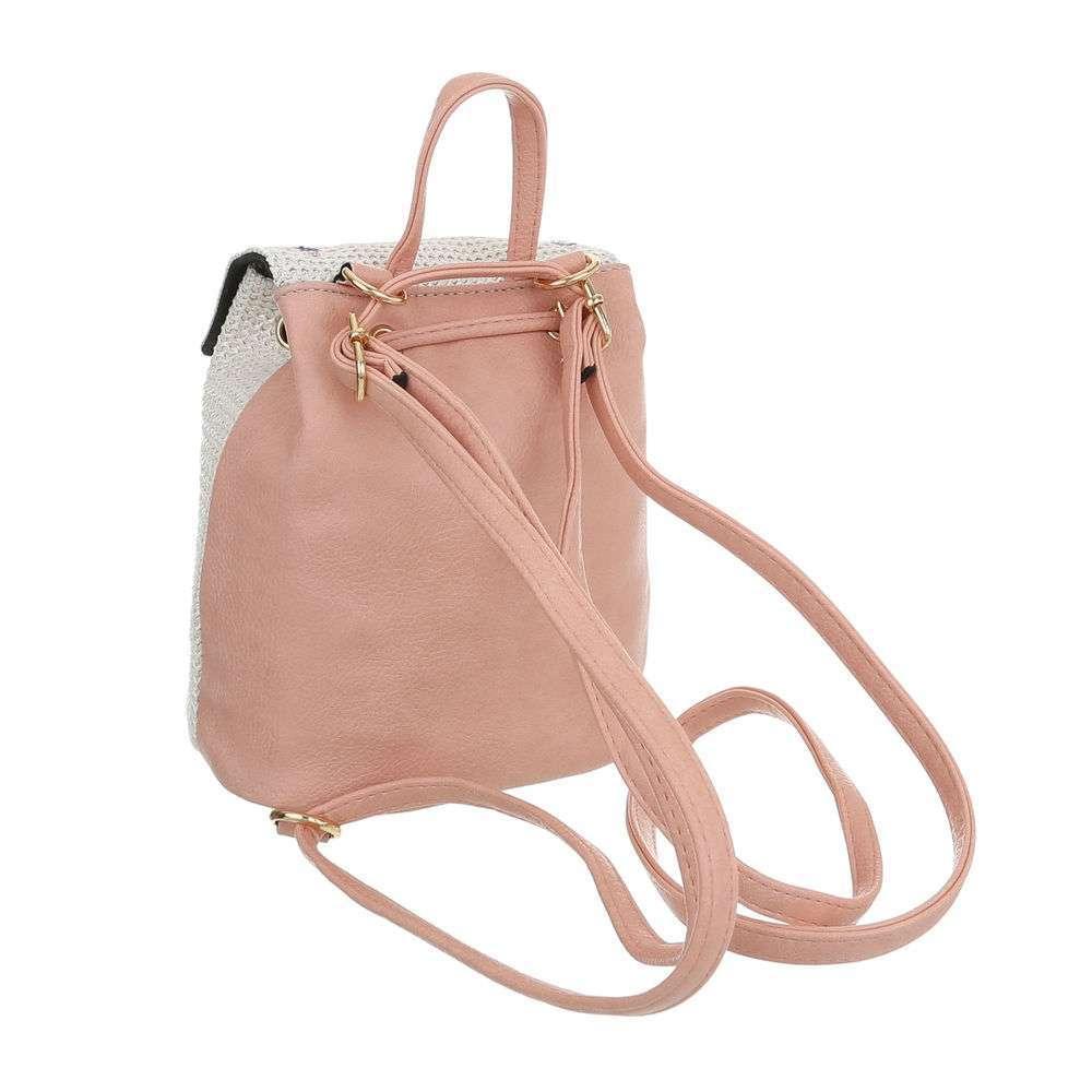 Rucsac pentru femei - roz alb - image 3
