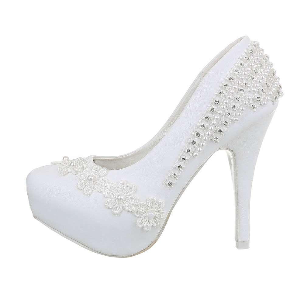 Damen Hochzeit High-Heel Pumps - alb
