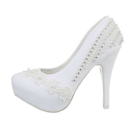 Damen Hochzeit High-Heel Pumps - white