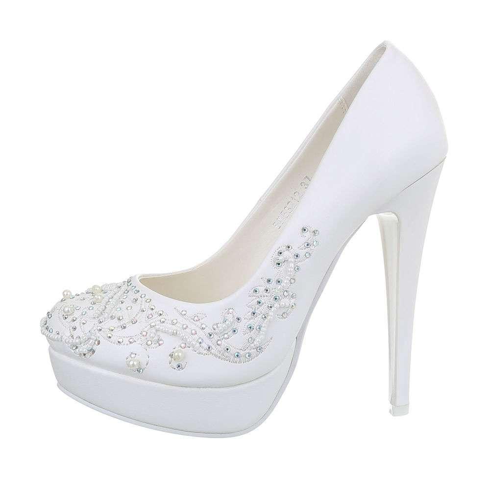 Damen Hochzeit High-Heel Pumps - white