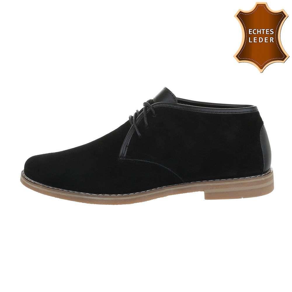 Pantofi casual pentru bărbați din piele - negri