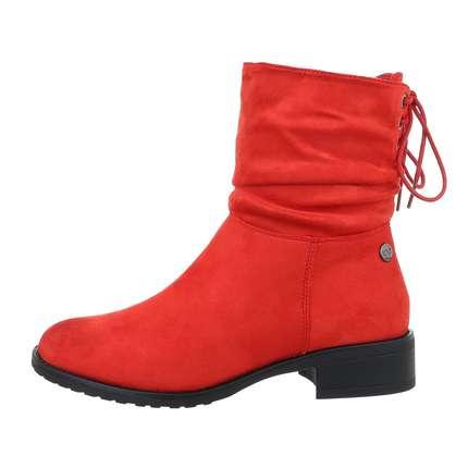klassische rote damen stiefel