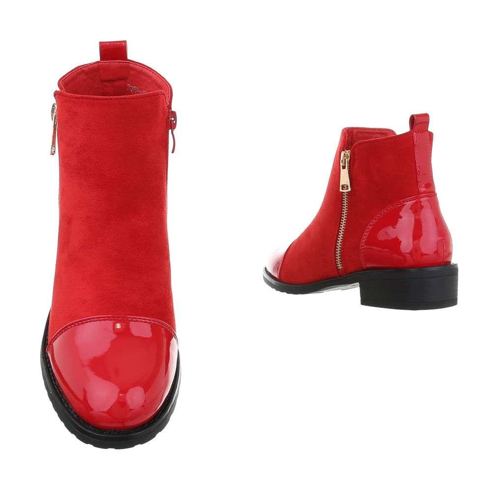 Cizme clasice pentru femei - roșii - image 3