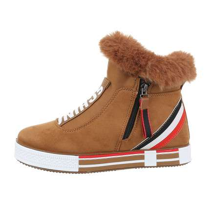 Damen High-Sneakers - camel