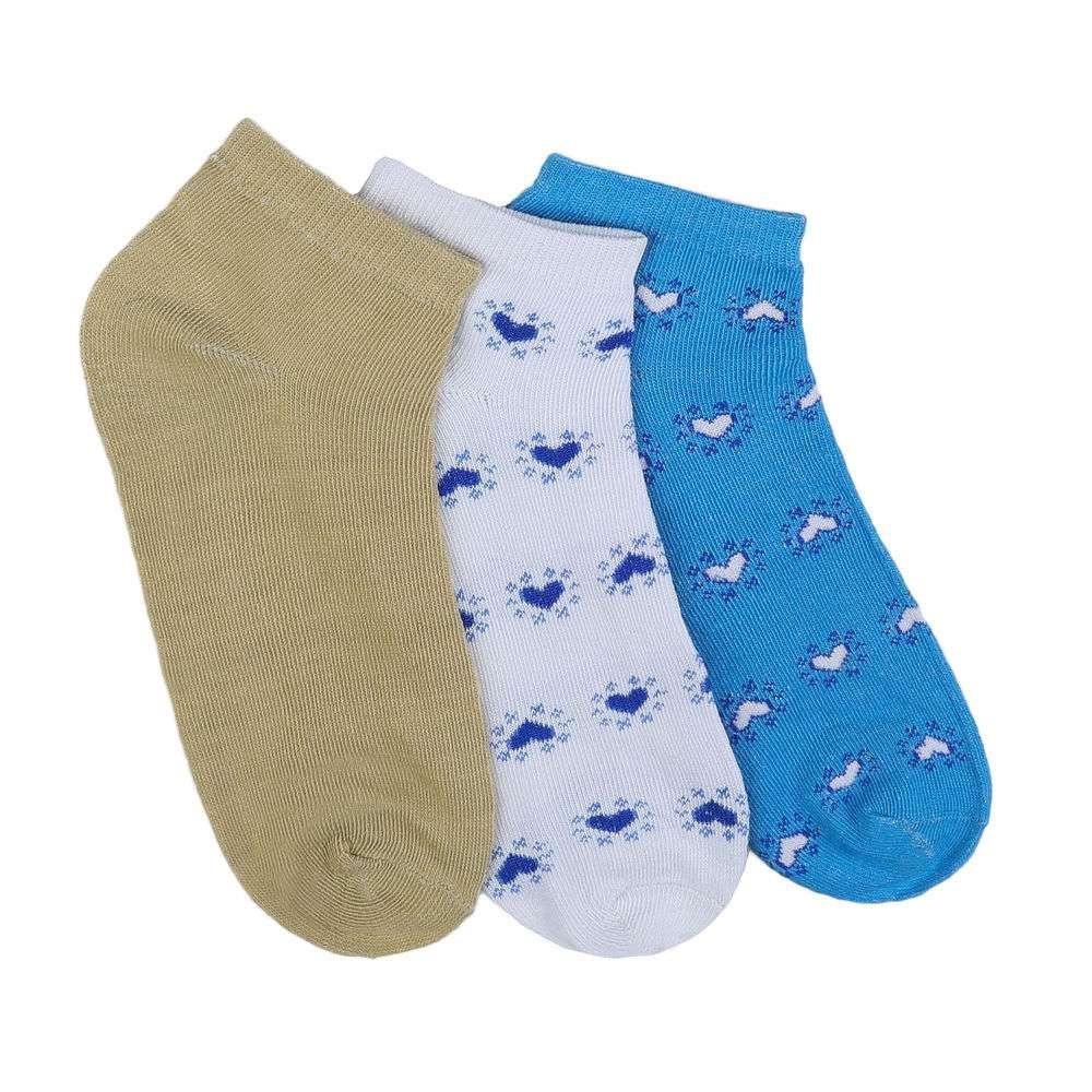 Șosete pentru femei - 12 perechi - alb-albastru