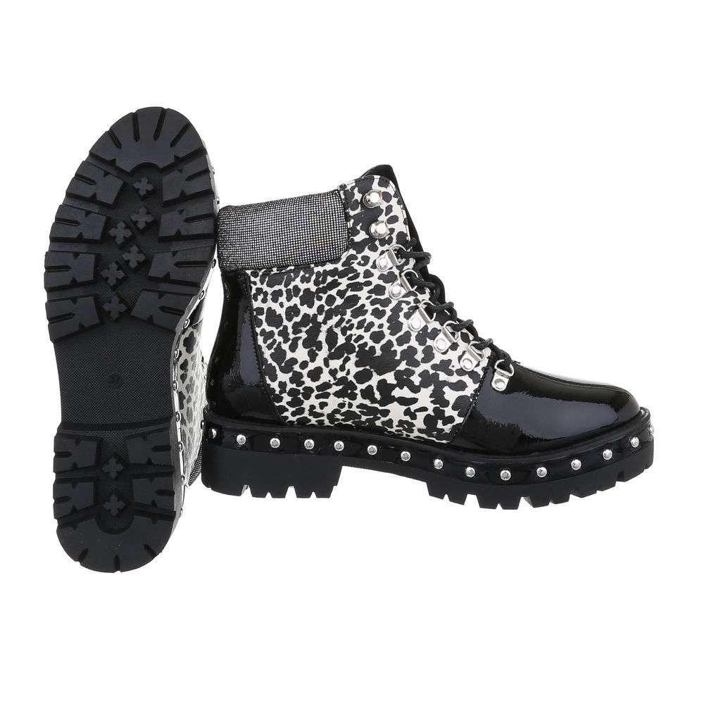 Cizme de damă cu dantelă - negruleopard - image 2