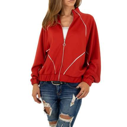Damen Sweatjacke von Acos - red