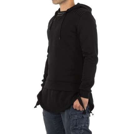 Herren Sweatshirt von Yes Design - black