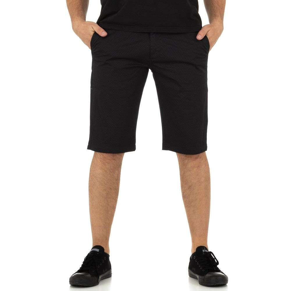 Pantaloni scurți pentru bărbați marca Mastino Jeans - negru