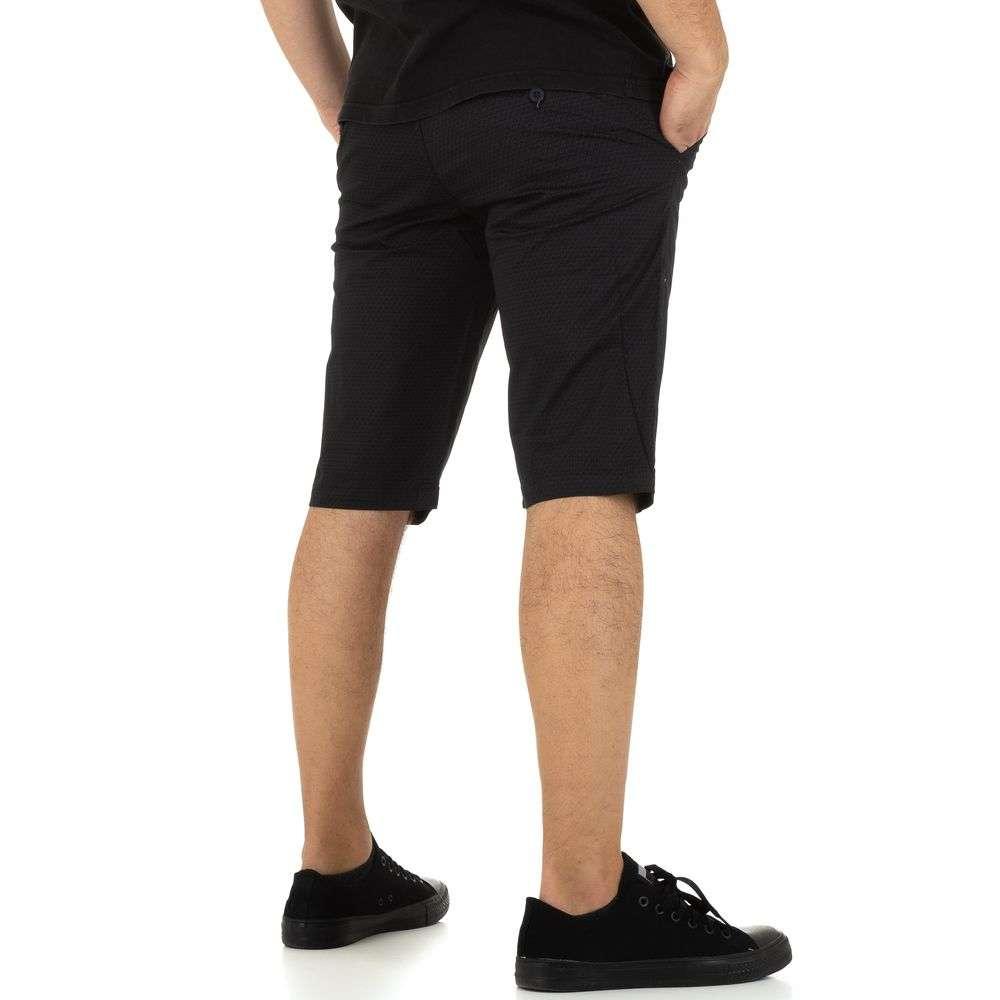Pantaloni scurți pentru bărbați marca Mastino Jeans - negru - image 3