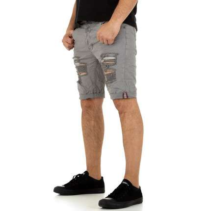 Herren Shorts von Justing Denim - grey