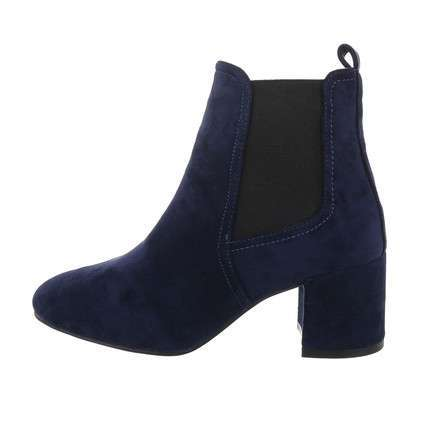 Damen High-Heel Stiefeletten - blue