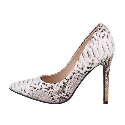 Damen High-Heel Pumps - beigesnake