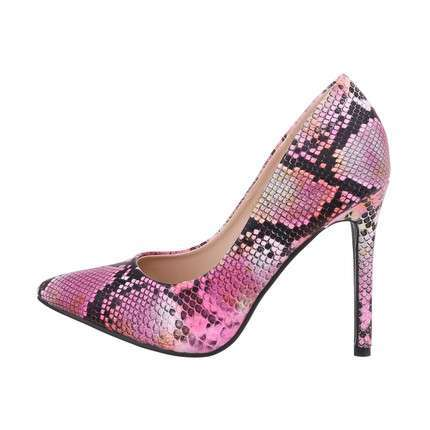Damen High-Heel Pumps - fuchsiasnake