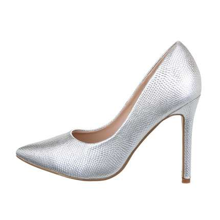 Damen High-Heel Pumps - silver