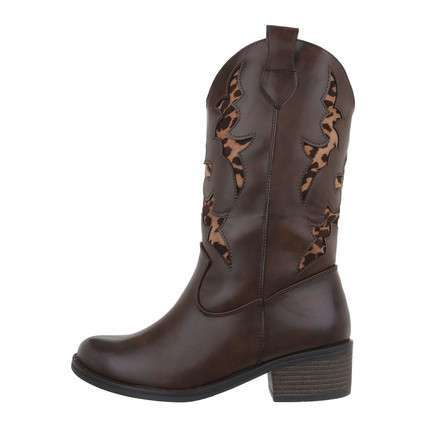 Damen Western- & Bikerboots - brown