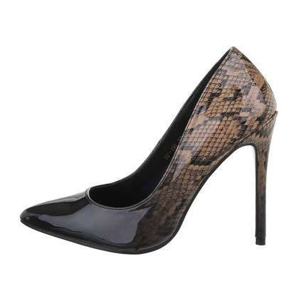 Damen High-Heel Pumps - blackbeige